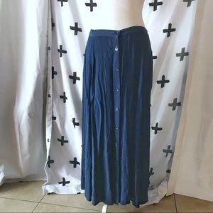 Vintage button front prairie skirt